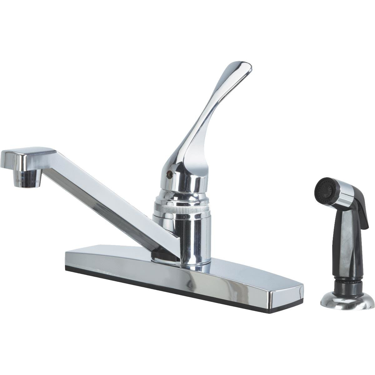 Home Impressions Single Handle Nonmetalic Kitchen Faucet With Black Sprayer